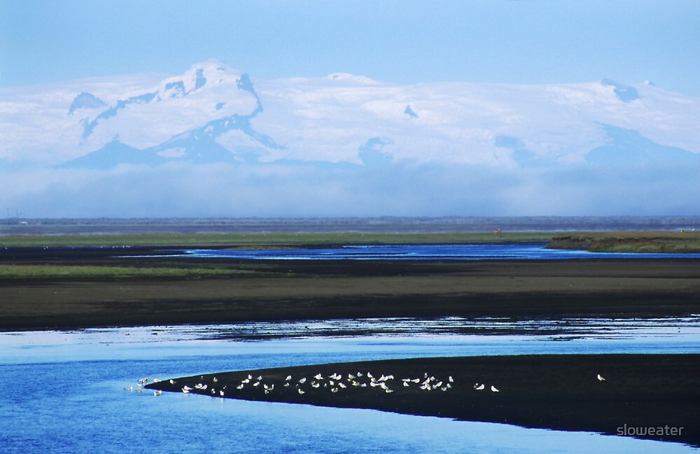 Iceland, Vatnajokull glacier landscape by sloweater