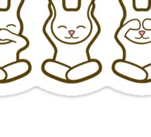 Los Tres Usagi's Sticker