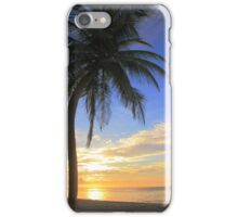 Palm Tree at Sunrise  on the Beach iPhone Case/Skin