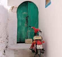 Door and Moped by Francis Drake
