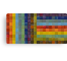 Collage Color Study Sketch Canvas Print