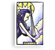 Queen of Swords Canvas Print