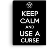 Keep Calm and use a Curse Canvas Print