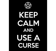 Keep Calm and use a Curse Photographic Print