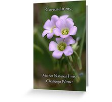 Challenge Winner Banner for Mother Nature's Finest! Greeting Card
