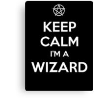 Keep Calm i'm a Wizard Canvas Print
