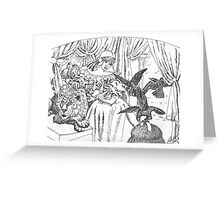 I Dreamed of a Lion Dreaming of Crows Greeting Card
