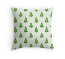 Happy Cute Trees Throw Pillow