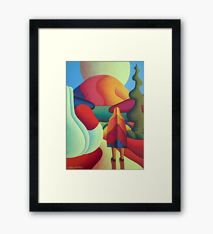 Pilgrimage to the sacred mountain 3 Framed Print