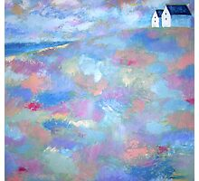 Acrylic painting Beach Houses Photographic Print