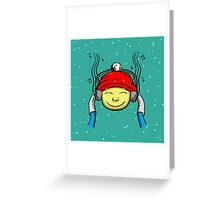 Music And Boy Greeting Card
