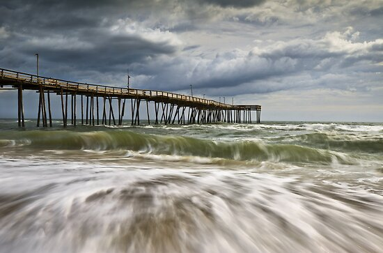 Outer Banks NC Avon Pier Cape Hatteras - Fortitude by Dave Allen