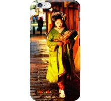 geisha in gion iPhone Case/Skin
