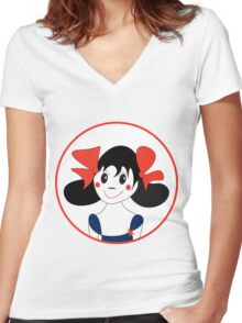 Happy Girl Women's Fitted V-Neck T-Shirt