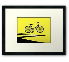 Vélo Jaune (Yellow Bicycle)  Framed Print