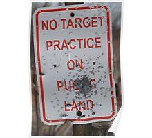 No Target Practice Poster