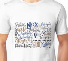 Spells & Charms-Blue Unisex T-Shirt