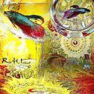 Betta Fish Art by Rita  H. Ireland