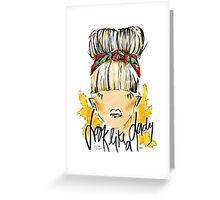 look like a lady Greeting Card