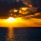 Sunset on the  Mediterranean by Janet Fikar