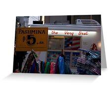 PASHMiNA  Greeting Card