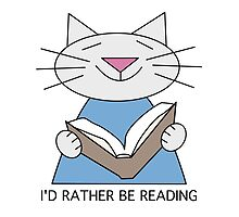 I'd Rather Be Reading Cat by Sue Cervenka