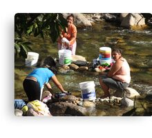 Collective Washing - Lavado Colectivo Canvas Print