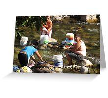 Collective Washing - Lavado Colectivo Greeting Card