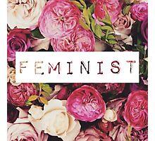 Floral Feminist Design Photographic Print