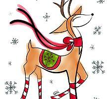 Vintage Reindeer by LMArt