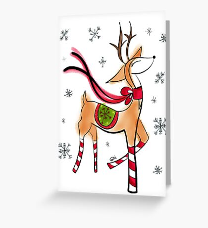 Vintage Reindeer Greeting Card