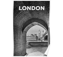 Big ben and bridge Poster