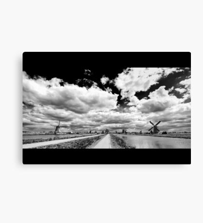 Land of Mills BW Canvas Print