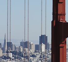 San Francisco through the Bridge by Barrie Woodward
