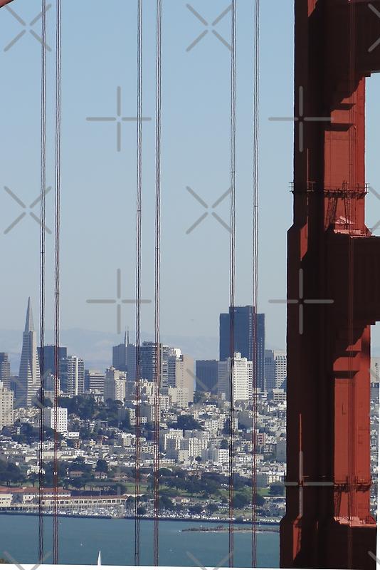 San Francisco through the Bridge by Barrie Woodward
