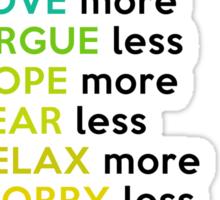 14 Easy Ways to Survive Life Sticker