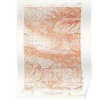USGS Topo Map Washington State WA Hog Ranch Buttes 241534 1936 48000 Poster