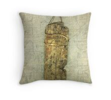 Driftwood Tag Throw Pillow