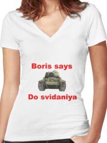 Boris Women's Fitted V-Neck T-Shirt