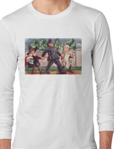 Young Gravediggers  (Vintage Halloween Card) Long Sleeve T-Shirt