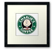 Charlie Brown Starbucks Framed Print