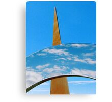 Clouds, Sky and Sculpture. Canvas Print