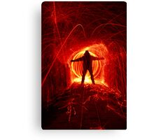 Lets spin fire Canvas Print