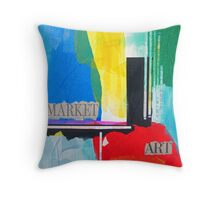 Art Market Throw Pillow