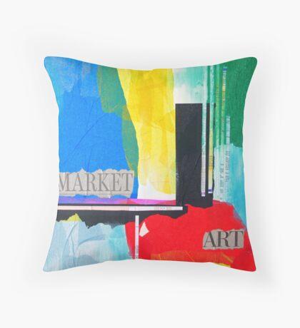 Art Market Throw Pillow