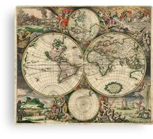 vintage map of the world Canvas Print