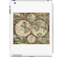 vintage map of the world iPad Case/Skin