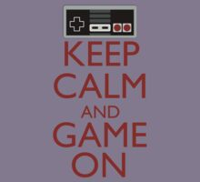 Keep Calm and Game On Kids Clothes