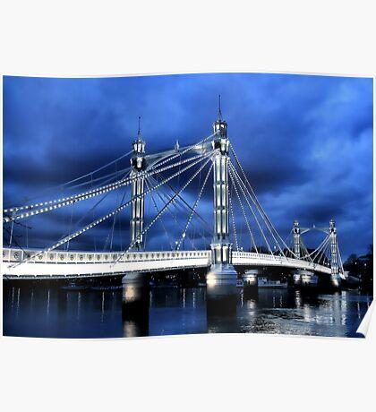 Albert Bridge, London Poster