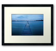 Walk the Plank - Sylvania, NSW Framed Print